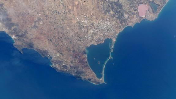 Imagen de satélite del Mar Menor.