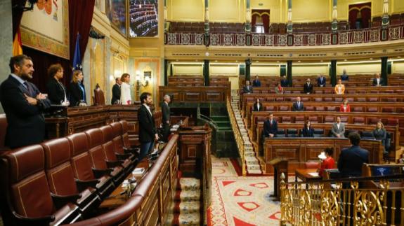 Minuto de silencio en el Congreso antes de comenzar la sesión