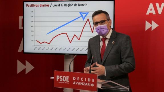 Diego Conesa en rueda de prensa hoy