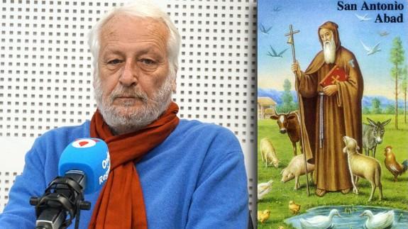 Manuel Muñoz Zielinski e imagen de San Antonio Abad
