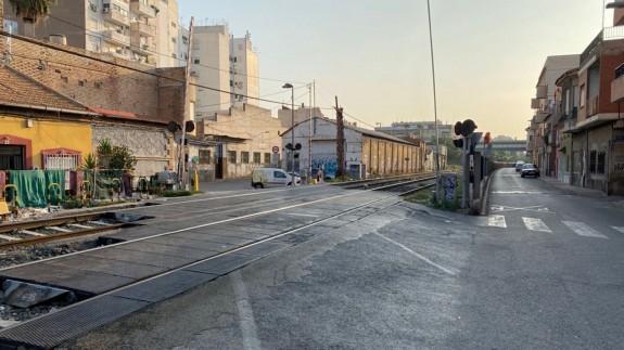 Vías del tren a su paso por Barriomar