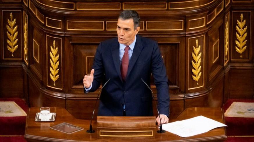 Pedro Sánchez en la primera jornada del debate
