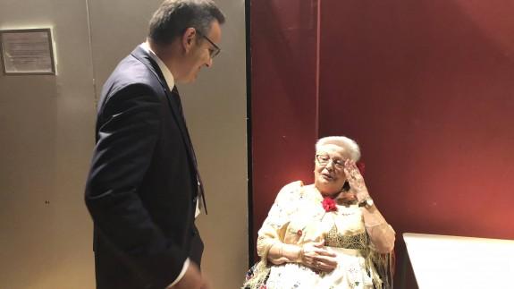 Diego Conesa en la casa regional de Murcia en Barcelona. PSOE