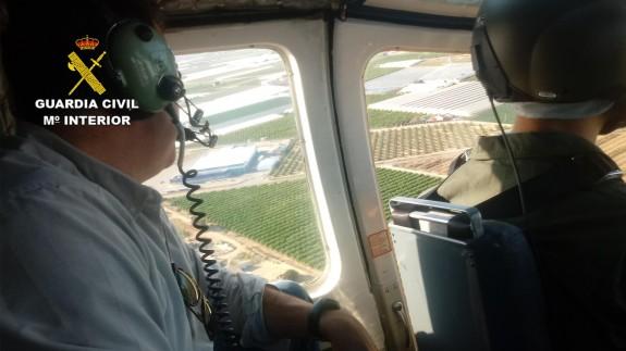 En las tareas de búsqueda han participado medios aéreos