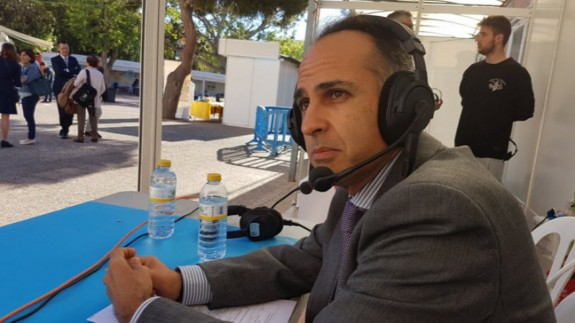 Alejandro Díaz Morcillo, rector de la UPCT, en una imagen de archivo de ORM
