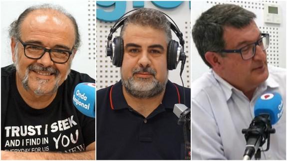 Antonio Saura, Laureano Buendía y Pedro Quílez
