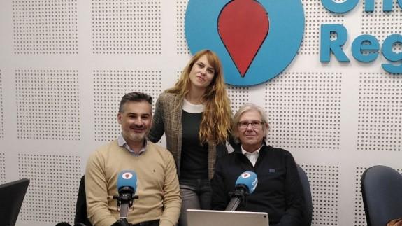Joaquín Ángel de Domingo y Sergio López tras la entrevista en Afectos Especiales