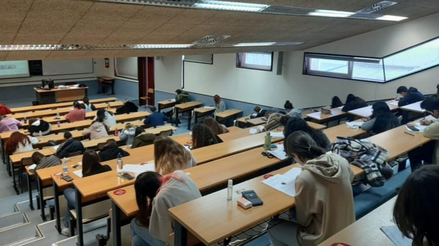 Exámenes en la Universidad de Murcia. Foto cedida.