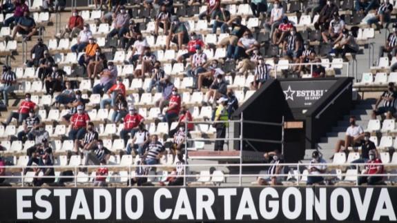 Aficionados en un partido reciente del Cartagena. Foto: FC Cartagena