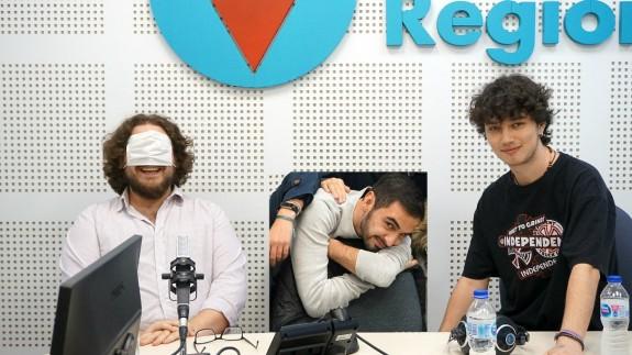 Kiko Torres, Pablo Martínez y Enrique Capel, del Club de Debate UM