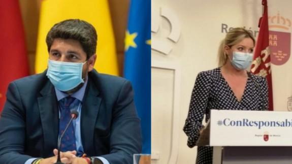 Fernando López Miras y Ana Martínez Vidal