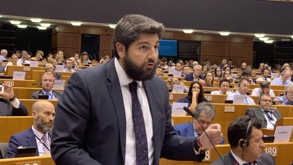López Miras en el pleno del Comité de las Regiones