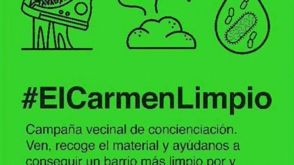 Cartel convocatoria Carmen Limpio