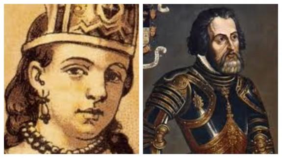 Malinche y Hernán Cortes