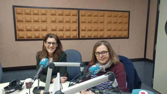 Senena Corbalán, vicerrectora de la UMU y Teresa Allepuz