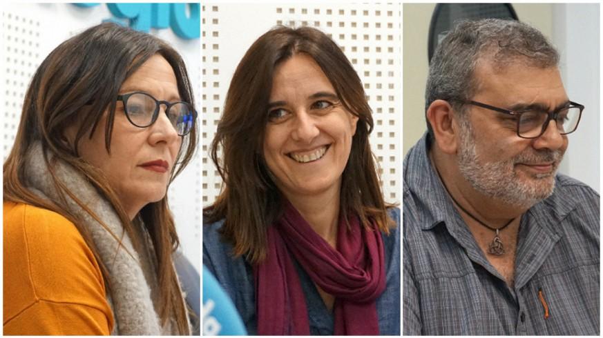 Blanca Soro, Belén Andreu y José Ramón Salcedo