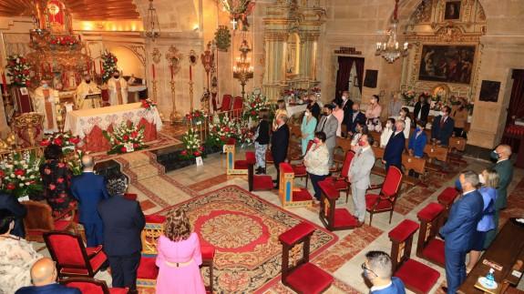 Imagen del acto religioso celebrado hoy