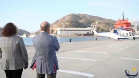 PLAZA PÚBLICA T02 Dispositivo especial para el traslado de una plataforma petrolífera en el Puerto de Cartagena (18/11/2020)