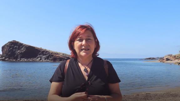 La portavoz de Podemos en el Ayuntamiento de Cartagena, Leli García. PODEMOS