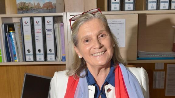 Delia Topham, presidenta de la Federación Murciana de Asociaciones de Familiares y Personas con Enfermedad Mental (FEAFES).