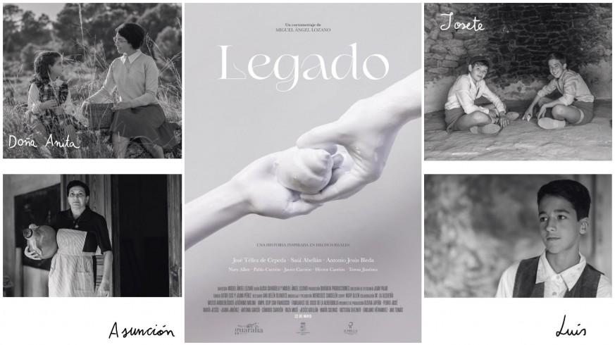 Cartel e intérpretes del cortometraje 'Legado'