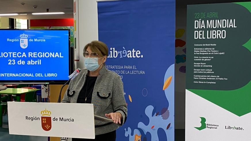 Mabel Campuzano en rueda de prensa este lunes