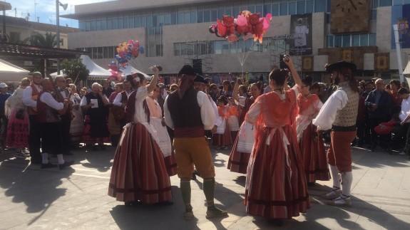 Imagen a la salida de la Misa Huertana en San Javier