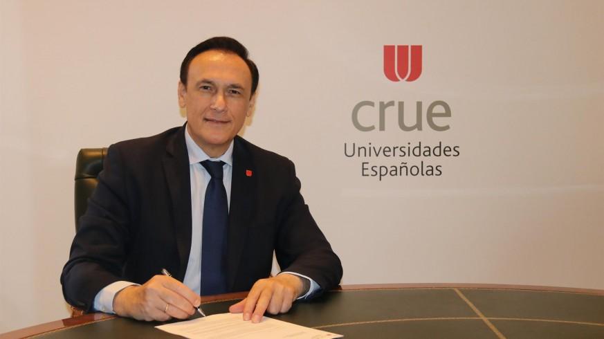 El presidente de los rectores, José Carlos Gómez Villamandos