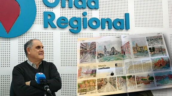 TE DOY LA TARDE. La Murcia confinada, dibujada por César Oliva