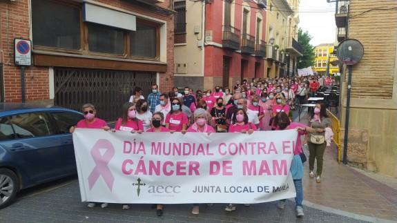 Marcha contra el cáncer de mama en Mula. Foto: J.L.Piñero