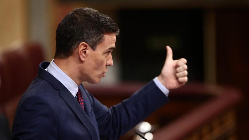 Sánchez en una comparecencia en el Congreso
