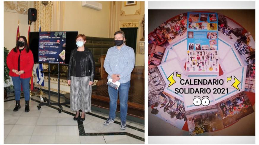Presentación de las actividades de Navidad en Jumilla junto al calendario solidario
