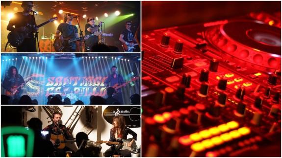 Mesa de mezclas y conciertos en salas