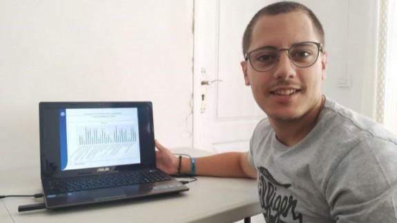 Juan Antonio Meca, estudiante de ADE en la UPCT