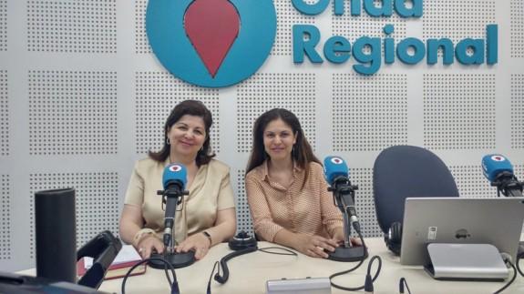 Nieves M. Hidalgo y Sandra Huertas en Onda Regional