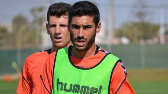 Antonio López, en un entrenamiento de este verano. Foto: Real Murcia
