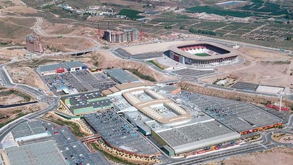 Vista aérea de Nueva Condomina (foto: Ahora Murcia)