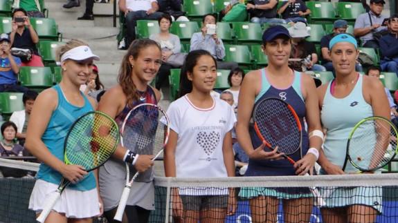 La tenista yeclana María José Martínez gana la final de dobles del Torneo de Tokio