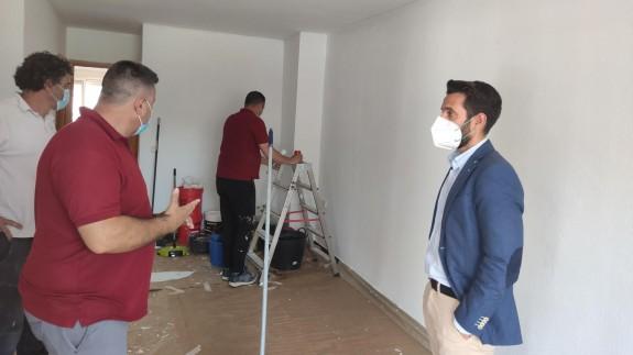 José Francisco Lajara visita las obras
