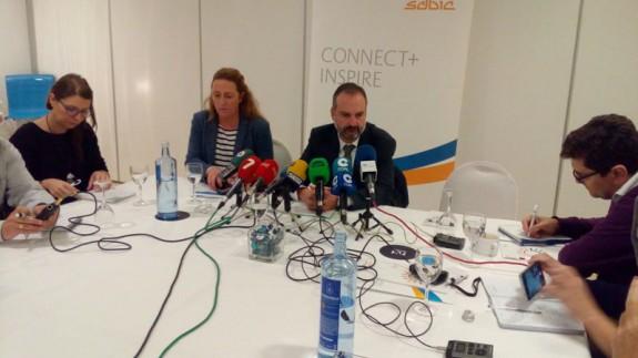 Juan Alemany, director de Sabic, en rueda de prensa