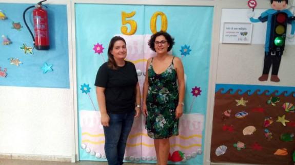 Teresa y Rocío, del Colegio Méndez Núñez