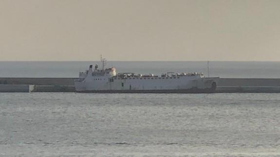 Imagen del buque inmovilizado en el puerto de Escombreras