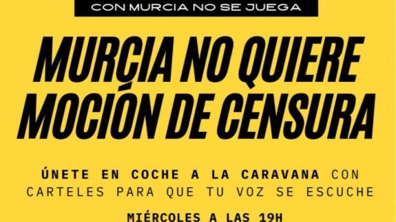 Cartel de la convocatoria de protesta