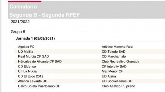 Consulta cómo queda el calendario de la 2ª RFEF