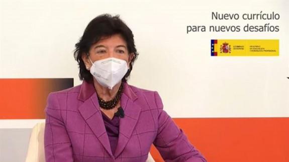 Isabel Celaá en la presentación del nuevo currículo educativo. MONCLOA