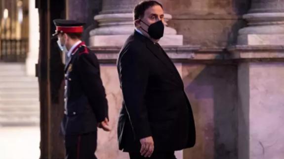 Oriol Junqueras en la toma de posesión de Pere Aragonés como presidente de Cataluña