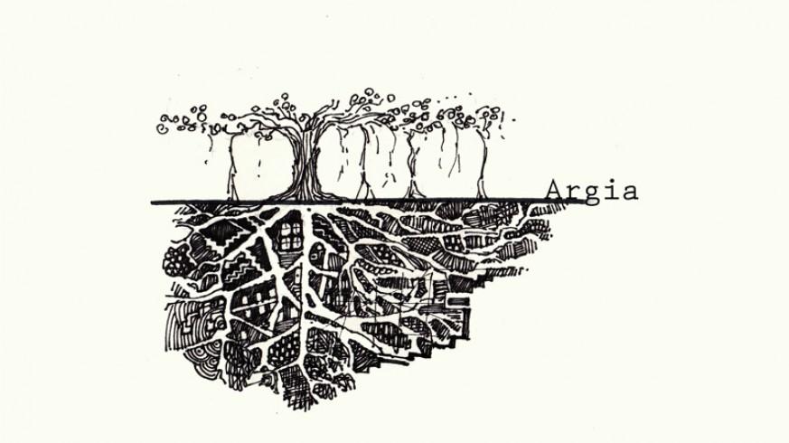 Ilustración de la ciudad de Argia según Rohan Patankar
