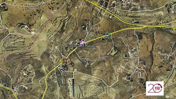 mapa del lugar del suceso
