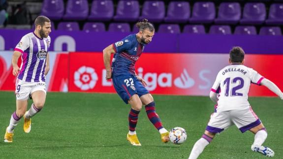 Gastón Silva, en un partido con el Huesca la pasada campaña