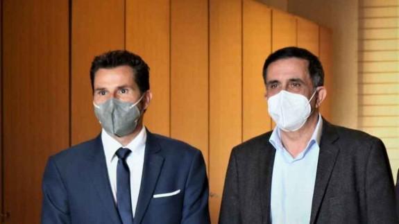 Mario Gómez (Cs) y José Antonio Serrano (PSOE) en una imagen de archivo. PSOE